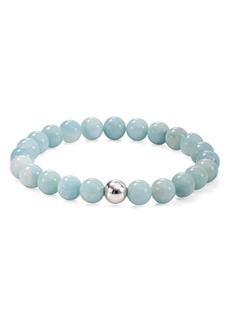 AQUA Sterling Silver & Stone Beaded Stretch Bracelet - 100% Exclusive