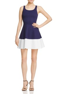 AQUA Sleeveless Color-Block Dress - 100% Exclusive