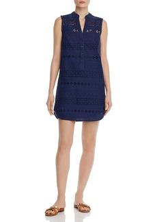 AQUA Sleeveless Eyelet Shift Dress - 100% Exclusive