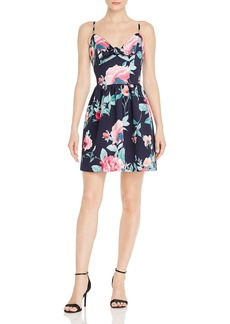 AQUA Sleeveless Floral-Print Dress - 100% Exclusive