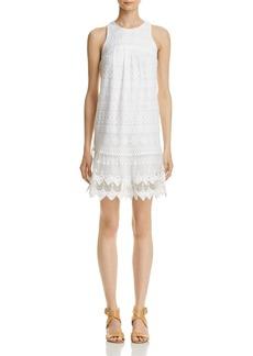 AQUA Sleeveless Geometric-Lace Dress - 100% Exclusive