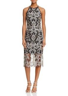 Aqua Sleeveless Lace Cocktail Dress - 100% Exclusive