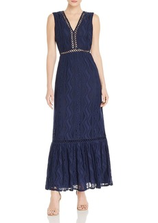 AQUA Sleeveless Lace Maxi Dress - 100% Exclusive