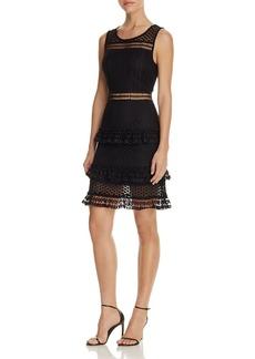 AQUA Sleeveless Lace Tiered Dress - 100% Exclusive