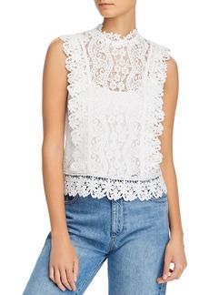 AQUA Sleeveless Lace Top - 100% Exclusive