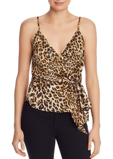 AQUA Sleeveless Leopard-Print Wrap Top - 100% Exclusive