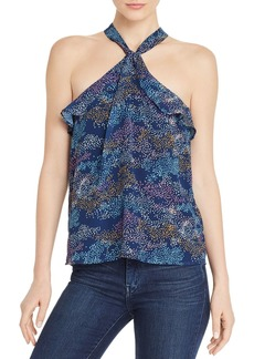 AQUA Sleeveless Printed Ruffle-Trim Top - 100% Exclusive