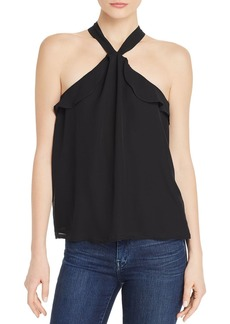 AQUA Sleeveless Ruffle-Trim Top - 100% Exclusive