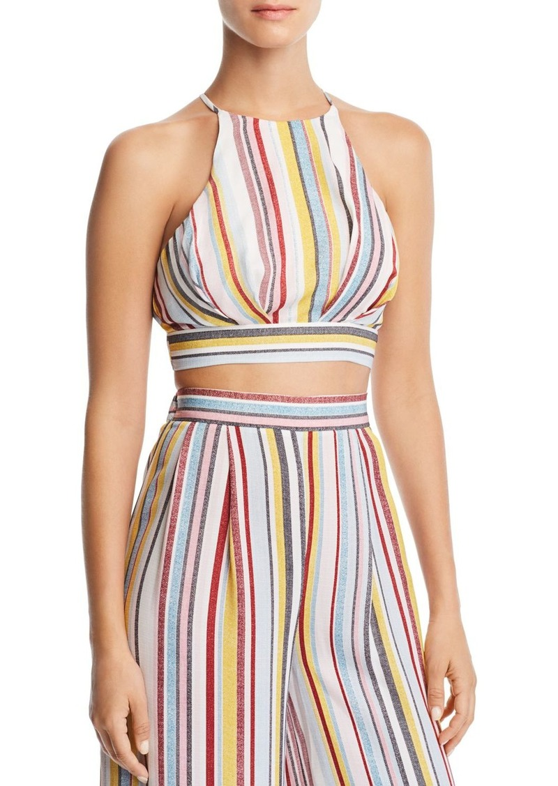 AQUA Sleeveless Striped Cropped Top - 100% Exclusive