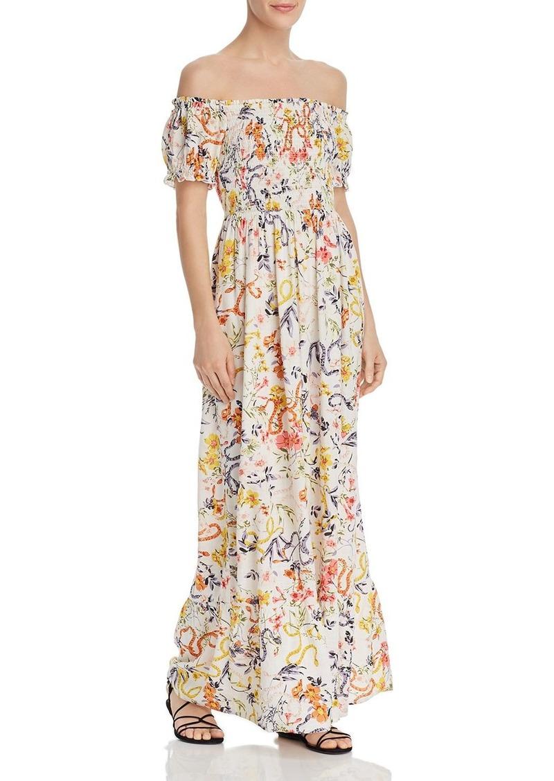 AQUA Smocked Floral Maxi Dress - 100% Exclusive