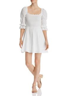 AQUA Smocked Puff-Sleeve Dress - 100% Exclusive