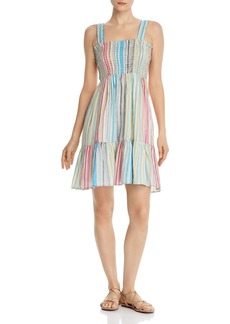 AQUA Smocked Rainbow-Stripe Dress - 100% Exclusive