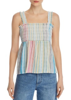 AQUA Smocked Rainbow-Stripe Top - 100% Exclusive