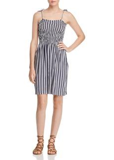 AQUA Smocked Striped Dress - 100% Exclusive