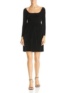 AQUA Smocked Velvet Dress - 100% Exclusive