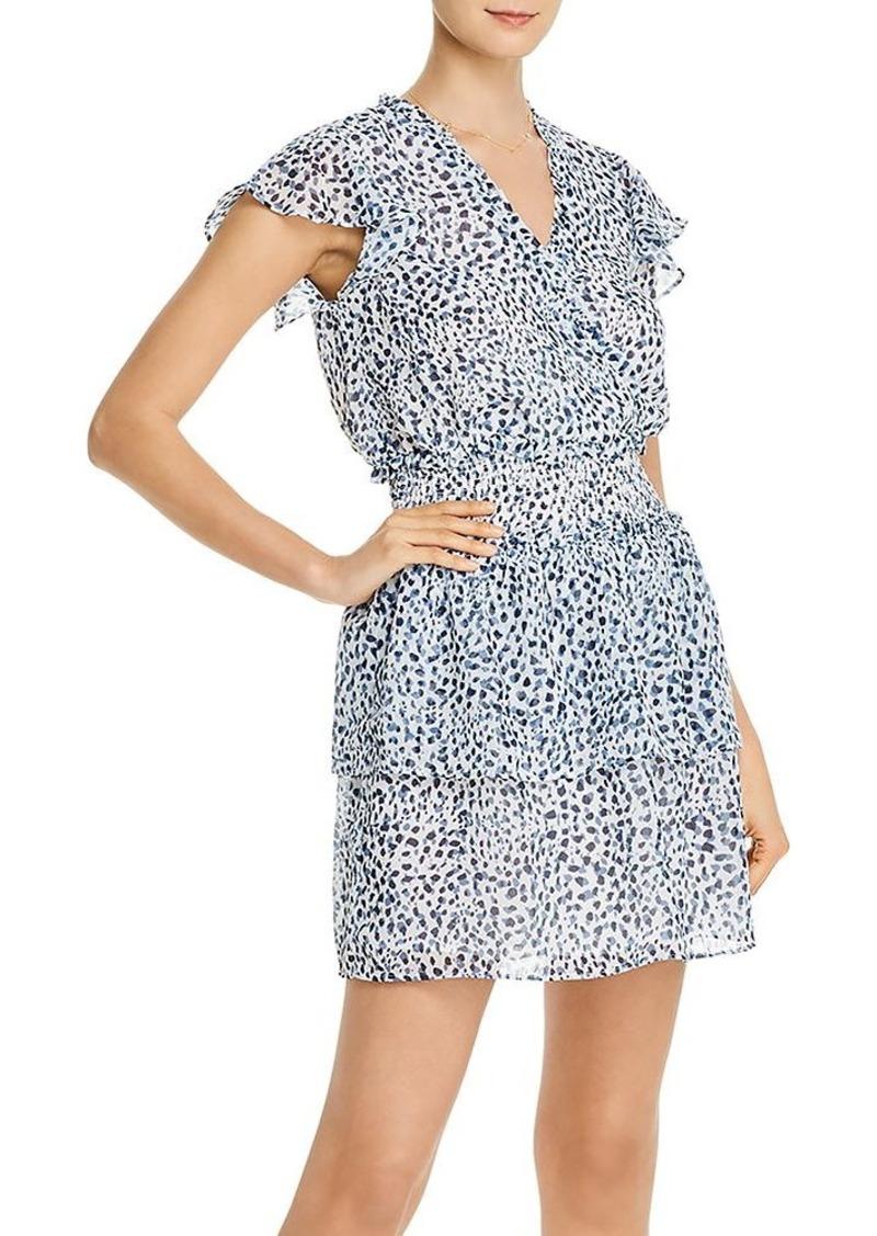 AQUA Smocked-Waist Cheetah Print Dress - 100% Exclusive