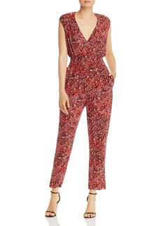 AQUA Smocked-Waist Leopard Print Jumpsuit - 100% Exclusive