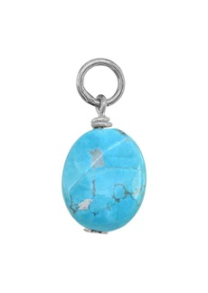 AQUA Stone Ball Drop Charm in Sterling Silver or 18K Gold-Plated Sterling Silver - 100% Exclusive