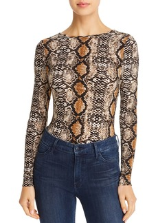 AQUA Snake Print Bodysuit - 100% Exclusive