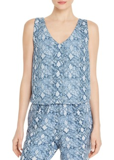 AQUA Snake Print Cropped Top - 100% Exclusive