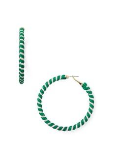 AQUA Spiral Thread Hoop Earrings - 100% Exclusive