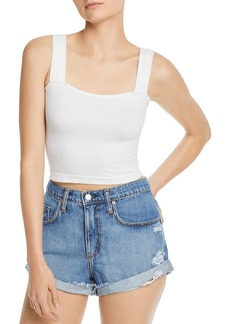 AQUA Square-Neck Cropped Tank - 100% Exclusive