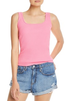 AQUA Square-Neck Rib-Knit Tank - 100% Exclusive