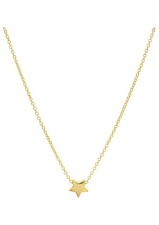 "AQUA Star Pendant Necklace in 14K Gold-Plated Sterling Silver or Sterling Silver, 16"" - 100% Exclusive"