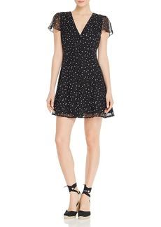 AQUA Star-Print Button-Front Dress - 100% Exclusive