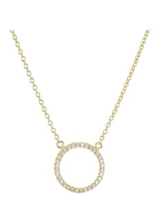 "AQUA Sterling Silver Circle Pendant Necklace, 15"" - 100% Exclusive"