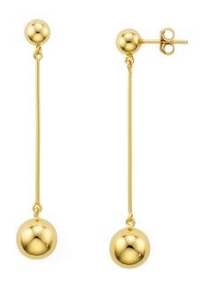 AQUA Sterling Silver Double Ball Bar Drop Earrings - 100% Exclusive