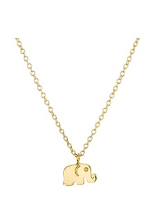 "AQUA Sterling Silver Elephant Pendant Necklace, 16"" - 100% Exclusive"