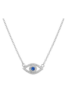 "AQUA Sterling Silver Evil Eye Pendant Necklace, 15"" - 100% Exclusive"