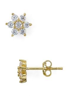 AQUA Sterling Silver Flower Stud Earrings - 100% Exclusive