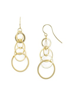 AQUA Sterling Silver Linked Circle Drop Earrings - 100% Exclusive