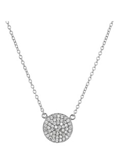 "AQUA Sterling Silver Pav� Circle Pendant Necklace, 16"" - 100% Exclusive"