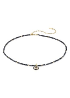 "AQUA Sterling Silver Pendant Choker Necklace, 14"" - 100% Exclusive"