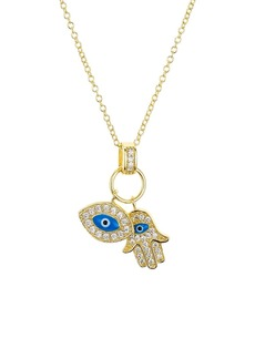 "AQUA Sterling Silver Pendant Necklace, 16"" - 100% Exclusive"