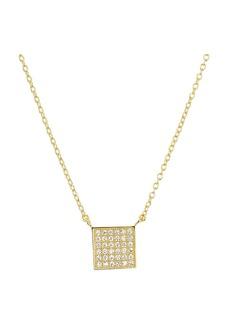 "AQUA Sterling Silver Square Pendant Necklace, 16"" - 100% Exclusive"