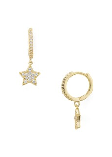 AQUA Sterling Silver Star Hoop Earrings - 100% Exclusive