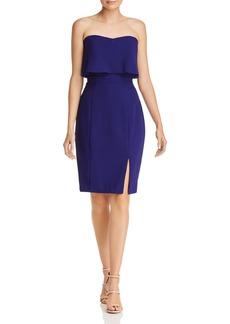 AQUA Strapless Crepe Dress - 100% Exclusive