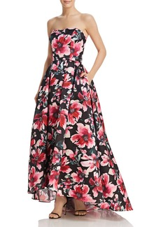 AQUA Strapless Floral Ball Gown - 100% Exclusive