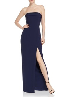 AQUA Strapless Twill Gown - 100% Exclusive