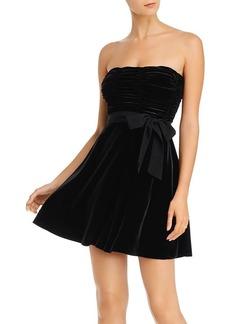 AQUA Strapless Velvet Dress - 100% Exclusive