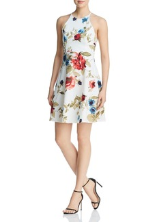 AQUA Strappy Floral Print Dress - 100% Exclusive