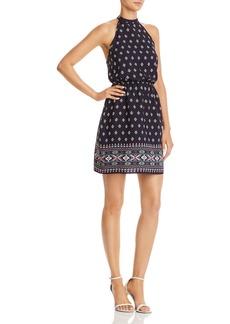 AQUA Strappy Geometric Print Dress - 100% Exclusive