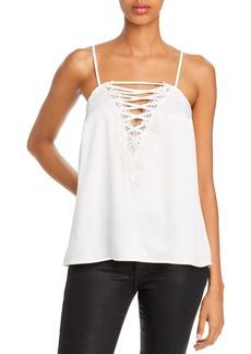 AQUA Strappy Lace-Trim Camisole - 100% Exclusive