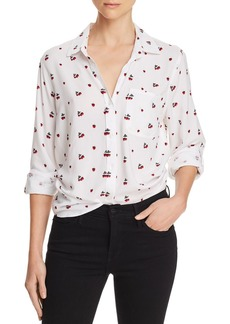 AQUA Strawberry Button-Down Blouse - 100% Exclusive