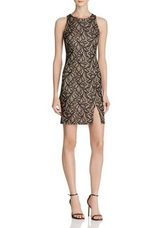 AQUA Stretch Lace Body Con Dress