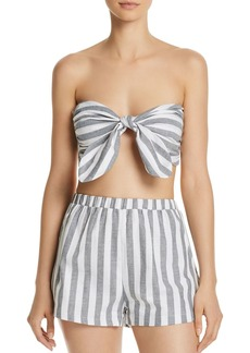 AQUA Stripe Bandeau Top - 100% Exclusive